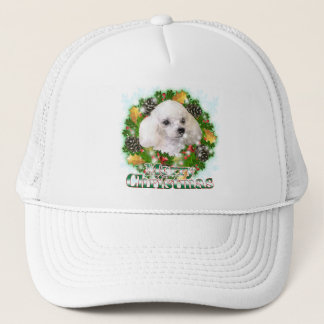 Merry Christmas Poodle Trucker Hat