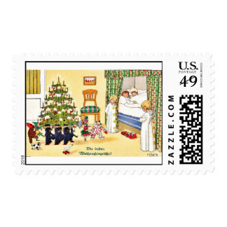 Merry Christmas Postage Stamps