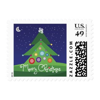 Merry Christmas Postage Stamp