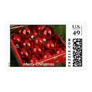 Merry Christmas Postage Stamp