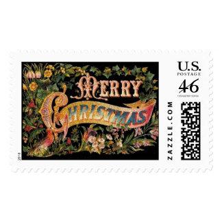 """Merry Christmas"" Postage Stamp"