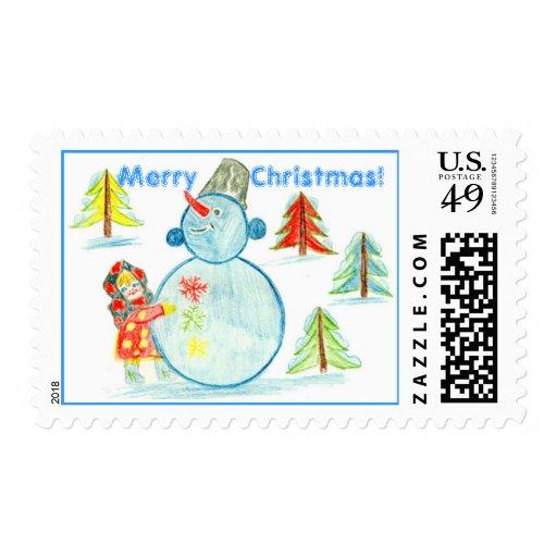Merry Christmas! Postage Stamp