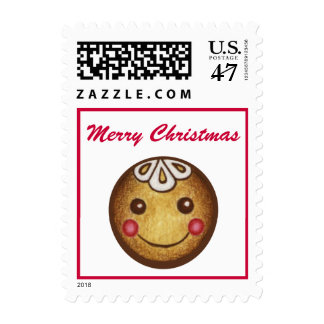 Merry Christmas Postage Stamp Gingerbread