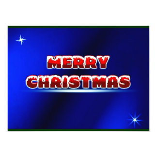 Merry Christmas Postage Stamp ~.jpg 6.5x8.75 Paper Invitation Card