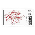 Merry Christmas! Postage Stamp Large