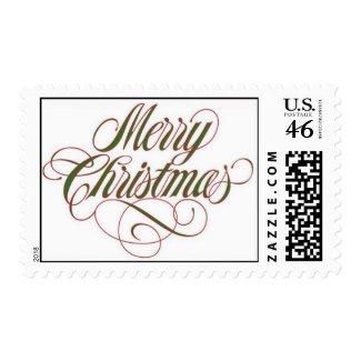 Merry Christmas! Postage Stamp Medium stamp