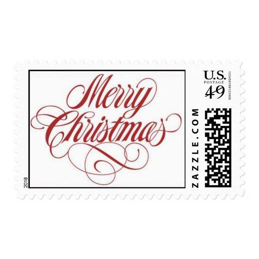 Merry Christmas! Postage Stamp Medium