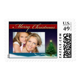 Merry Christmas Postage Stamp photo template