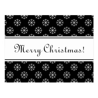 Merry Christmas postcard with elegant letters