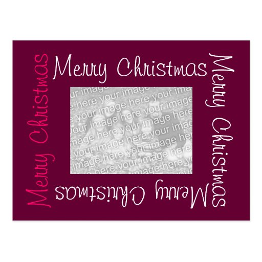 Merry Christmas Postcards with Photo
