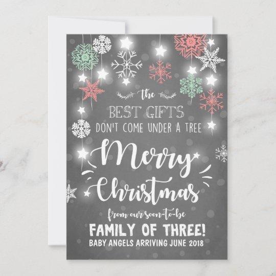 Merry Christmas Pregnancy Announcement Rustic Zazzle Com