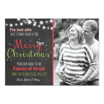 Christmas Themed Merry Christmas pregnancy chalkboard announcement