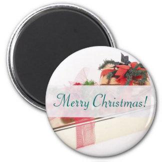 Merry Christmas Presents Refrigerator Magnet