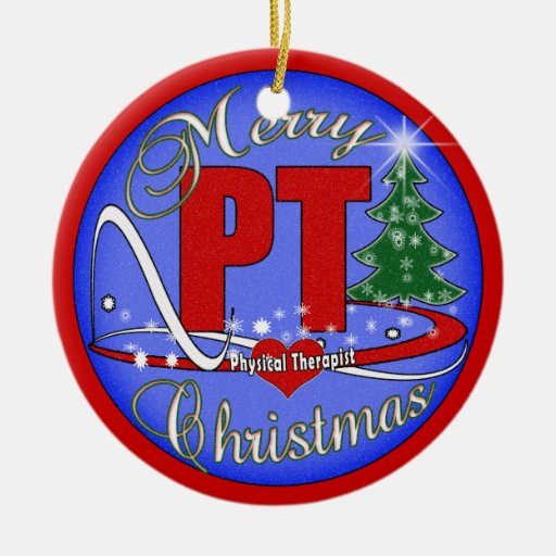 Merry Christmas Pt Ornament Physical Therapist Zazzle