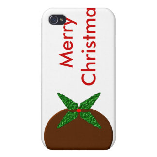 Merry Christmas Pudding  iPhone 4/4S Case