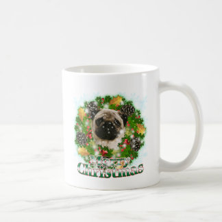 Merry Christmas Pug Coffee Mug
