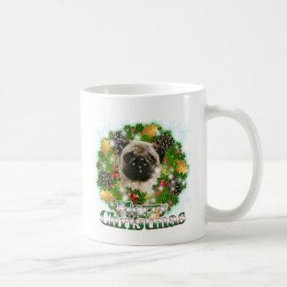 Merry Christmas Pug Coffee Mug
