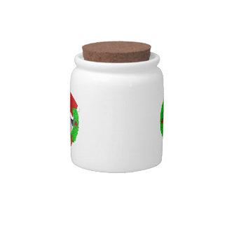 Merry Christmas Pug Cookie Jar Candy Jars