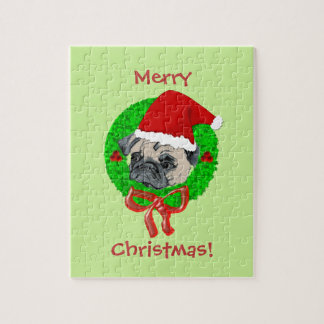 Merry Christmas Pug Puzzle