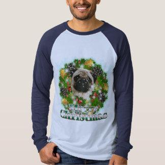 Merry Christmas Pug T-shirt