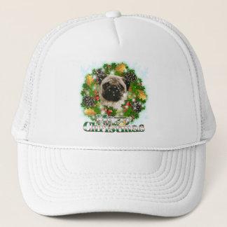 Merry Christmas Pug Trucker Hat