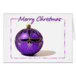 Merry Christmas Purple Ball Card