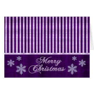 Merry Christmas Purple Snowflakes Holiday Card