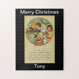Merry Christmas Puzzle Design