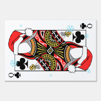 Merry Christmas Queen of Clubs - Add Your Images Lawn Sign