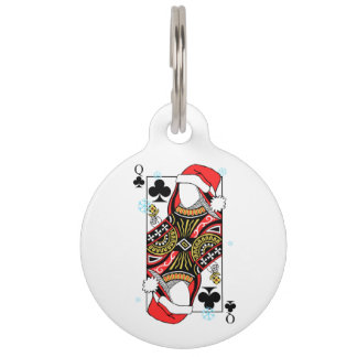 Merry Christmas Queen of Clubs - Add Your Images Pet Tag