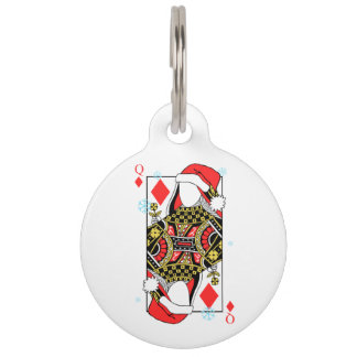 Merry Christmas Queen of Diamonds-Add Your Images Pet ID Tag