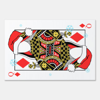 Merry Christmas Queen of Diamonds-Add Your Images Sign