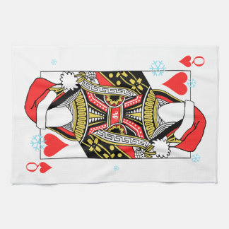 Merry Christmas Queen of Hearts - Add Your Images Kitchen Towel