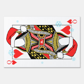 Merry Christmas Queen of Hearts - Add Your Images Lawn Sign