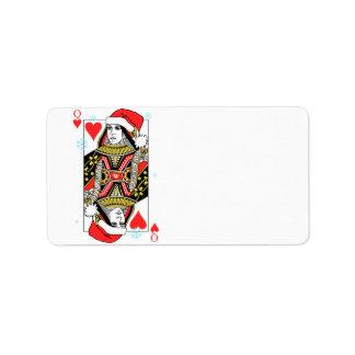 Merry Christmas Queen of Hearts Label