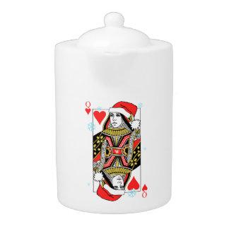 Merry Christmas Queen of Hearts Teapot