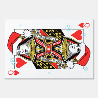 Merry Christmas Queen of Hearts Yard Sign