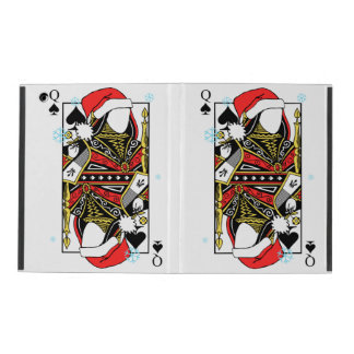 Merry Christmas Queen of Spades - Add Your Images iPad Cover