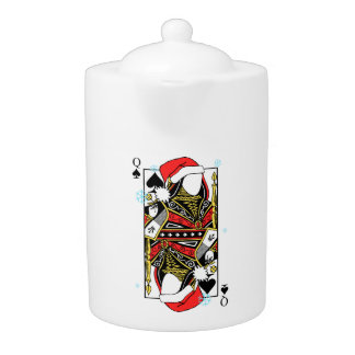 Merry Christmas Queen of Spades - Add Your Images Teapot