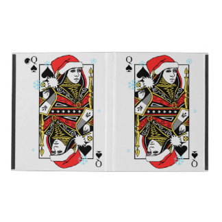 Merry Christmas Queen of Spades iPad Cover