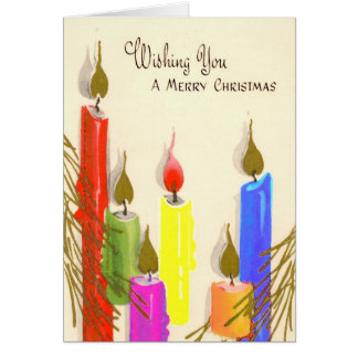 Merry Christmas Rainbow Gay Candles Card