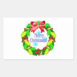 Merry Christmas Rectangle Sticker