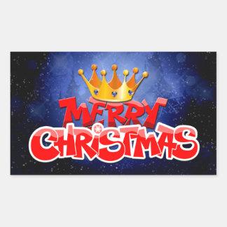 Merry Christmas Rectangular Sticker