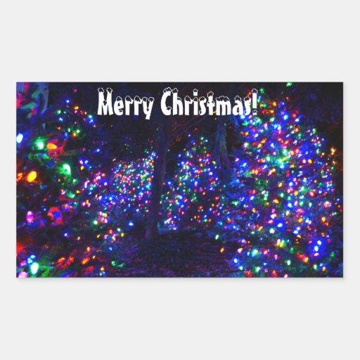 Merry Christmas! Rectangular Sticker