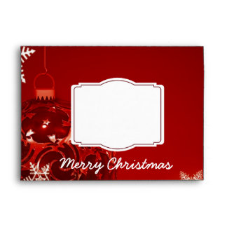 Merry Christmas Red 5x7 Holiday Envelopes
