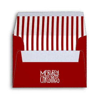Merry Christmas red A2 Envelope envelope
