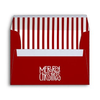 Merry Christmas red A7 Envelope envelope