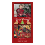 Merry Christmas Red (Add Your Photos and Text) Photo Card Template