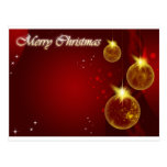 Merry Christmas red background Postcard