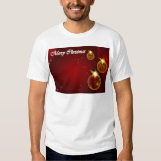 Merry Christmas red background T-Shirt